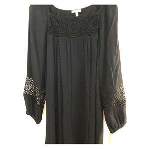 Joie black long sleeve dress